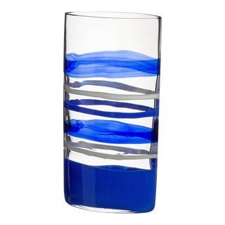 Carlo Moretti Arco Murano Mouth Blown Glass Vase For Sale