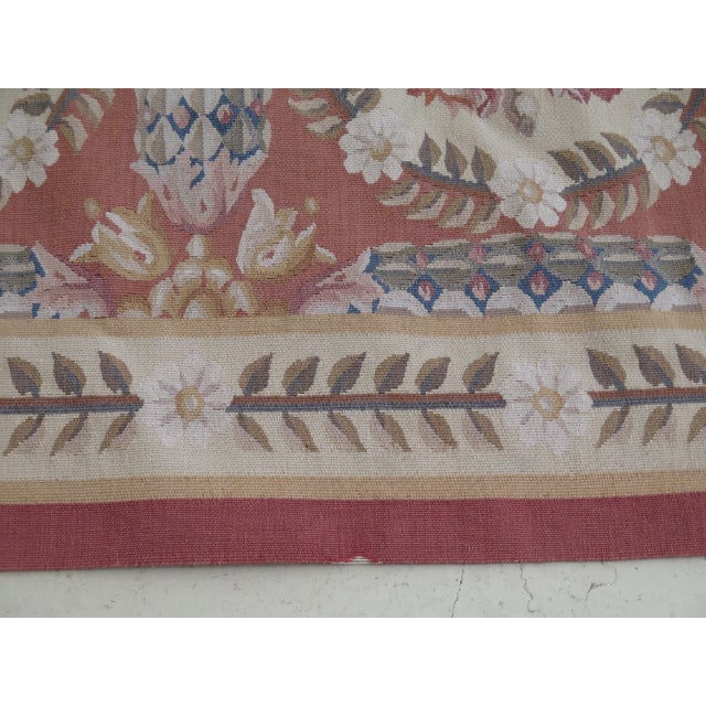 Red 1980s Aubusson Room Size Rug - 8' X 12' For Sale - Image 8 of 13
