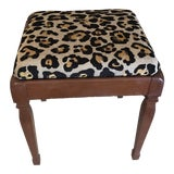Image of Vintage Leopard Storage Bench For Sale