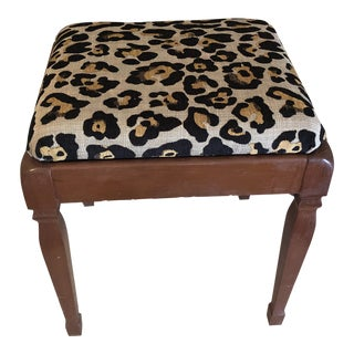 Vintage Leopard Storage Bench For Sale