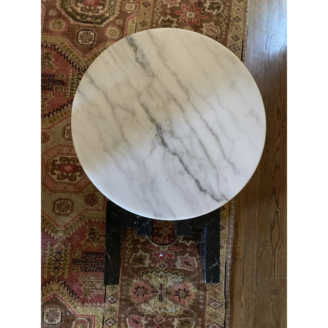 1980s 1980s Modern Stacked Marble Table With Rotating Top For Sale - Image 5 of 10