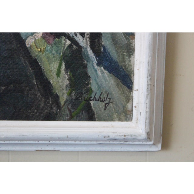 Expressionism Buchholz Industrial Train Scene Painting For Sale - Image 3 of 7