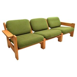 Danish Modern Beechwood Living Room 4-piece Set with Leather Straps, Circa 1970