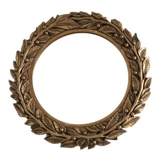 Hollywood Regency Laurel Motif Gilded Wall Mirror