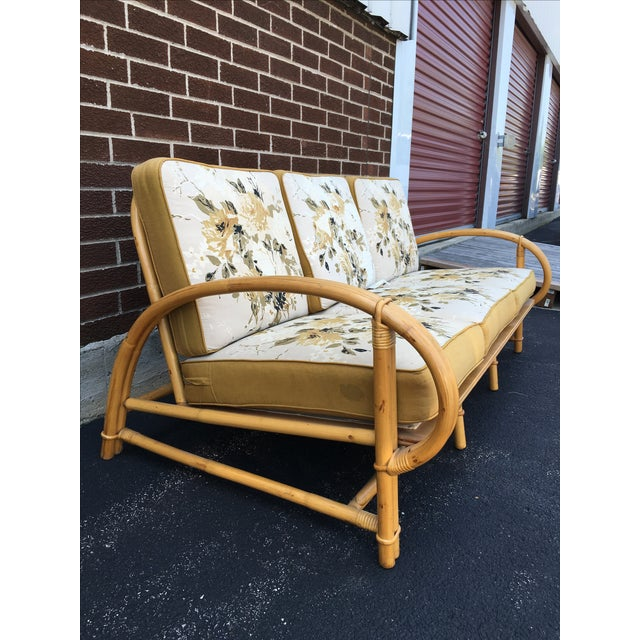 Vintage Ficks Reed Co. Vintage Rattan Sofa - Image 3 of 11