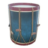 Image of 1970s Folk Art Drum Table For Sale