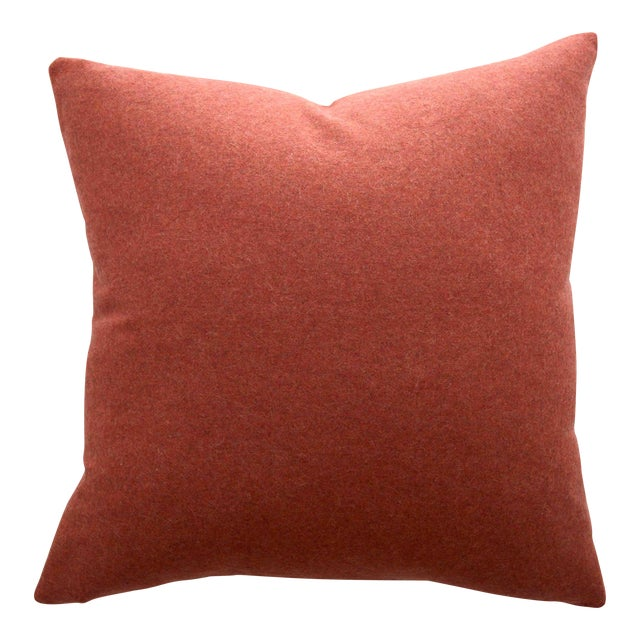 FirmaMenta Italian Orange Sustainable Wool Pillow - Image 1 of 8