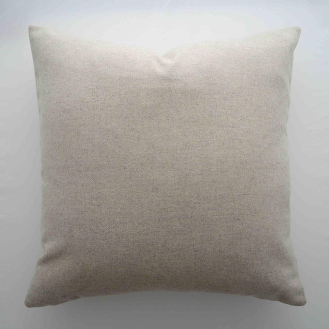 FirmaMenta Italian Cream Sustainable Wool Pillow For Sale In San Francisco - Image 6 of 6