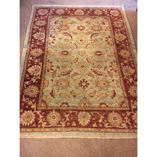 Traditional Olive & Burgundy Rug - 4′9″ × 6′4″ - Image 4 of 4