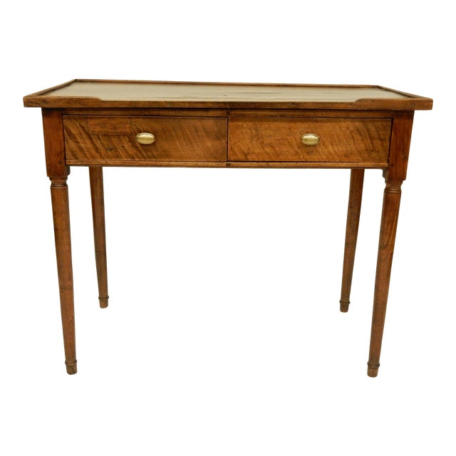18th C. French Provincial Walnut Side Table For Sale