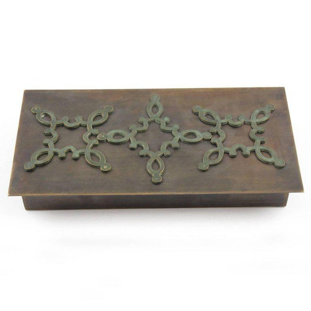 Mid-Century French Modernist Decorative Lidded Brass Box - Image 2 of 9