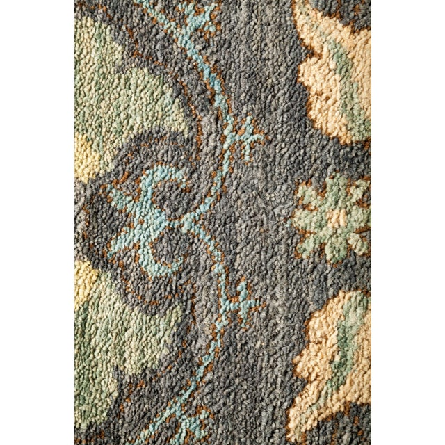 "Contemporary Suzani Hand-Knotted Area Rug 5' 1"" x 7' 10"" For Sale - Image 3 of 4"