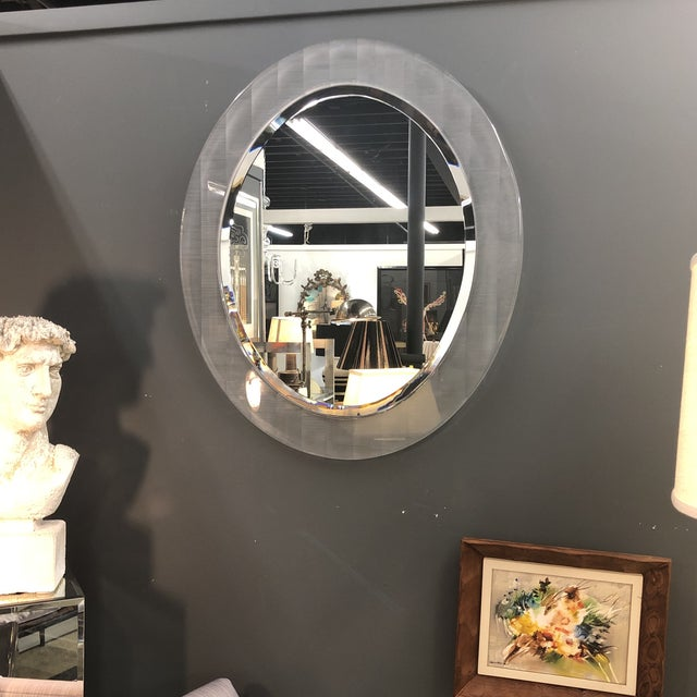 Lucite Beveled Mirror For Sale In New York - Image 6 of 8