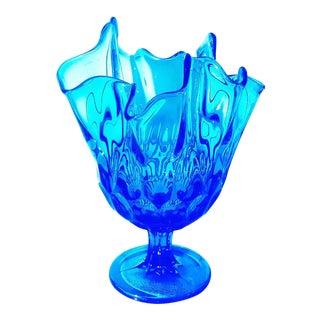 Mid Century Modern Cobalt Blue Art Glass For Sale