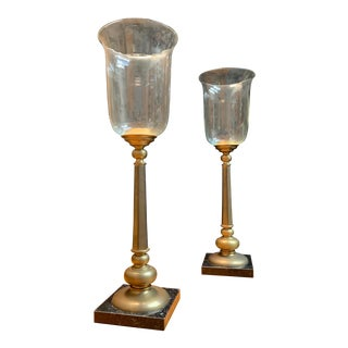Chapman Classic Candle Torchieres - a Pair For Sale