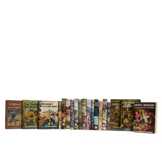 Vintage Reading for Teen Boys : Set of Twenty Decorative Books For Sale