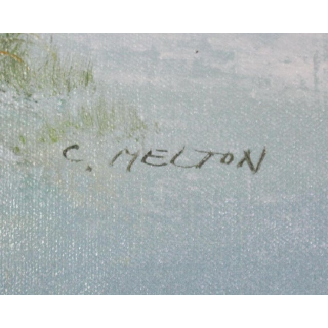 Signed Original Seascape Oil Painting by Catherine Parker Melton For Sale - Image 4 of 5