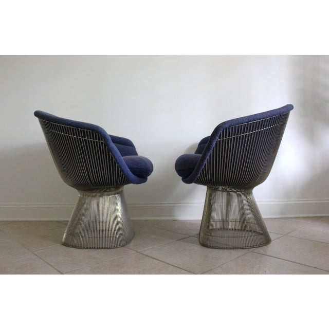 Iconic, beautiful and rare set of 2 vintage Platner Lounge Chairs designed by Warren Platner for Knoll. Originally...