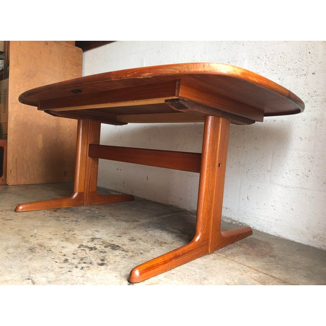 Vintage Mid-Century Danish Modern Extendable Dining Table by Skovby Mobelfabrik Denmark For Sale In Miami - Image 6 of 13