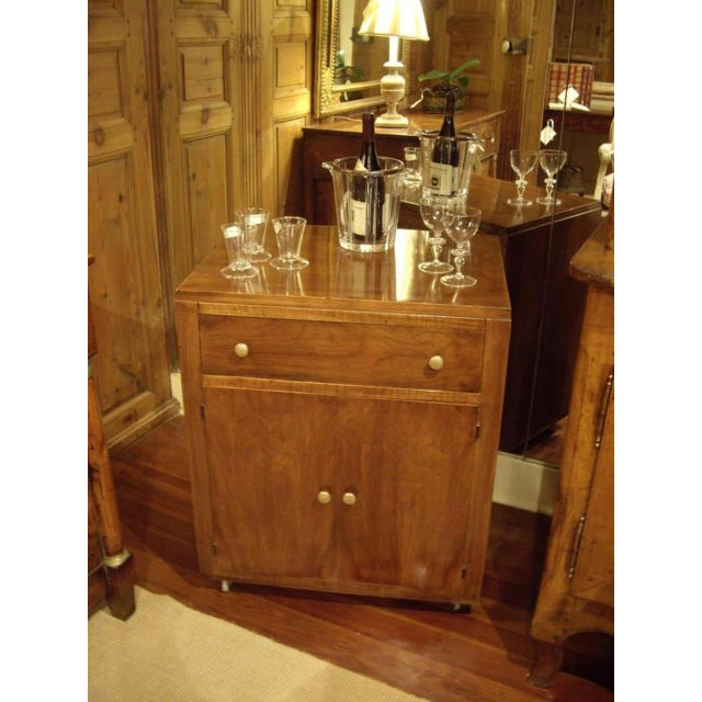 1950s Mid-Century Modern Wood Bar Cart For Sale In New Orleans - Image 6 of 8