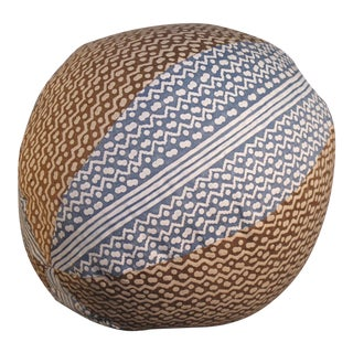 Fortuny Tapa Pattern Orb Pillow For Sale