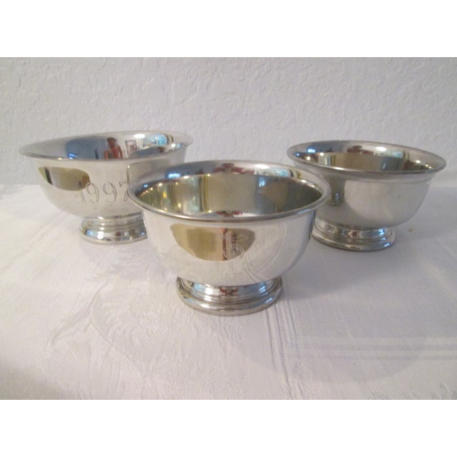 Pewter Engraved Bowls - Set of 3 - Image 2 of 5