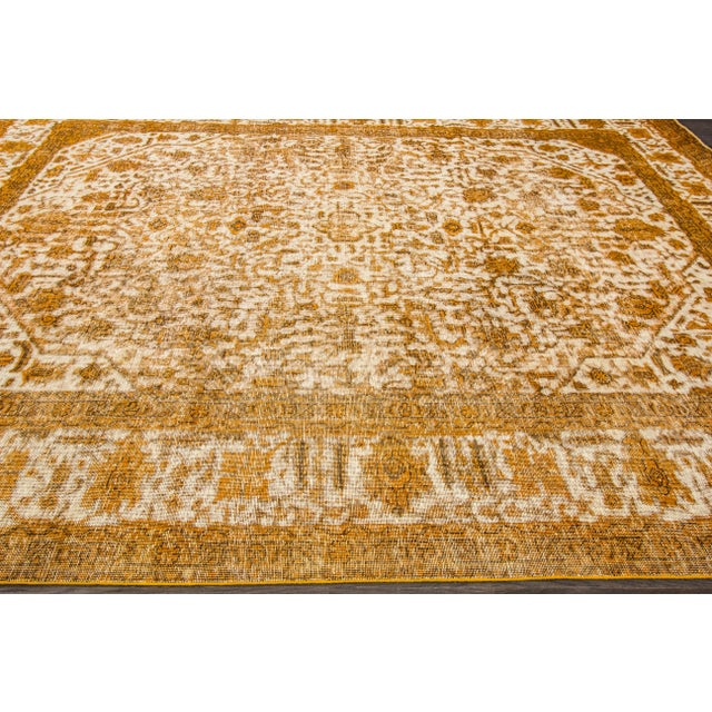 "Apadana Yellow Overdyed Rug - 10' X 12'7"" - Image 2 of 5"