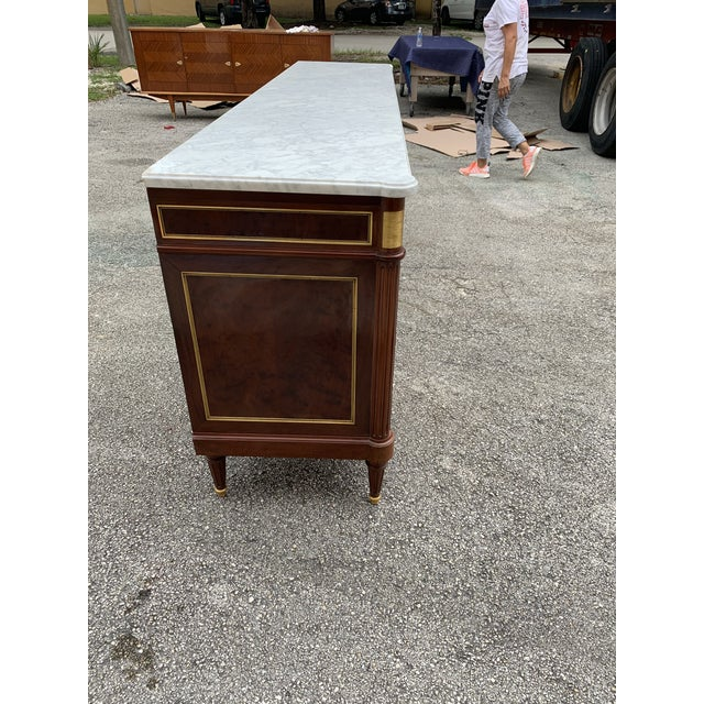 Metal 1910s French Louis XVI Antique Mahogany Sideboard For Sale - Image 7 of 13