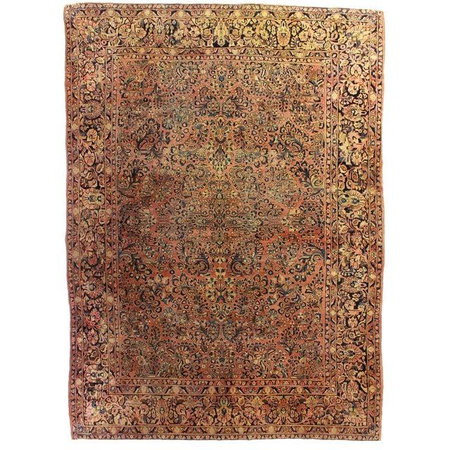 RugsinDallas Antique Persian Sarouk Rug - 8′3″ × 11′10″ - Image 1 of 2