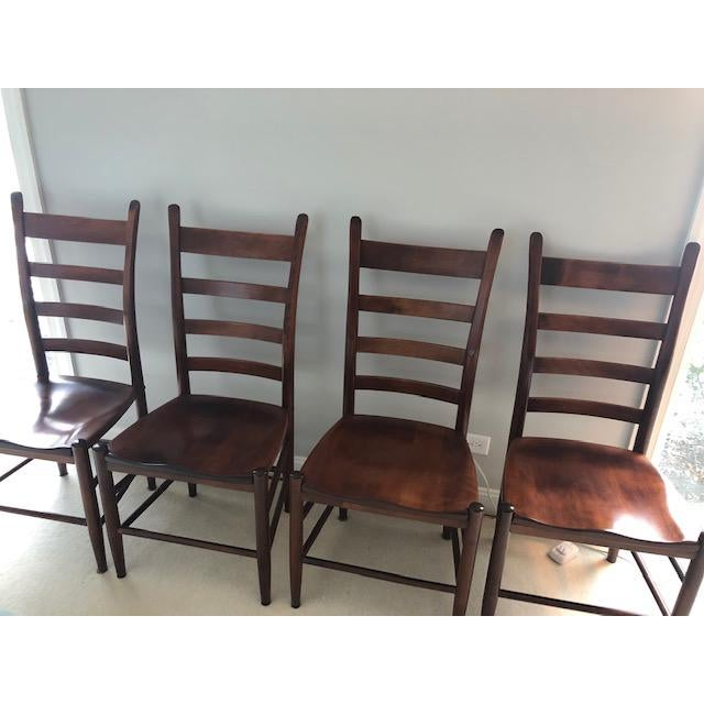 Nichols and Stone Side Chairs- Set of 4 For Sale In Chicago - Image 6 of 11