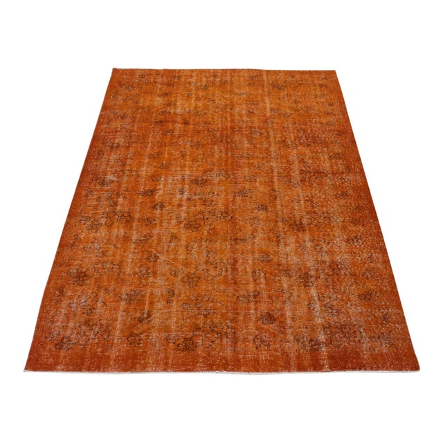 Vintage Overdyed Turkish Rug - 5′9″ × 9′ - Image 1 of 6