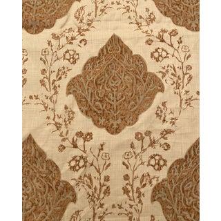 "Soane Britain Hand Screen Printed ""Ottoman Scribe"" Linen Fabric, 4.67 Yards For Sale"