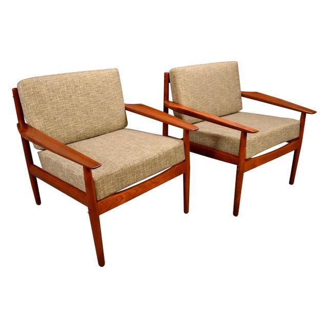 1960s Scandinavian Modern Arne Vodder Teak Lounge Chairs - a Pair For Sale - Image 11 of 11