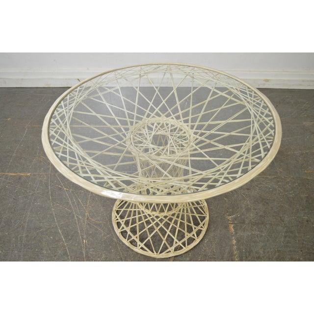 Russell Woodard Spun Fiberglass Table & Chairs - Set of 5 - Image 7 of 11