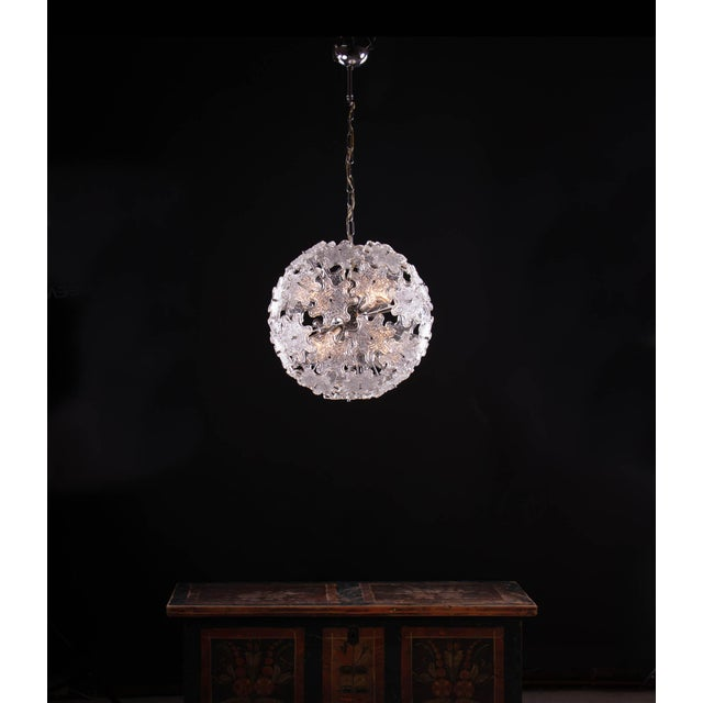 Paolo Venini 1960s Italy Paolo Venini Sputnik Chandelier For Sale - Image 4 of 7