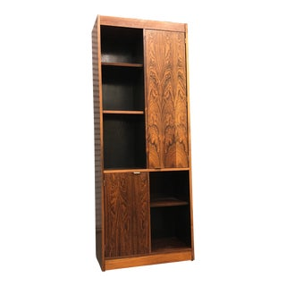 1960s Mid-Century Modern Rosewood Tower Bookcase
