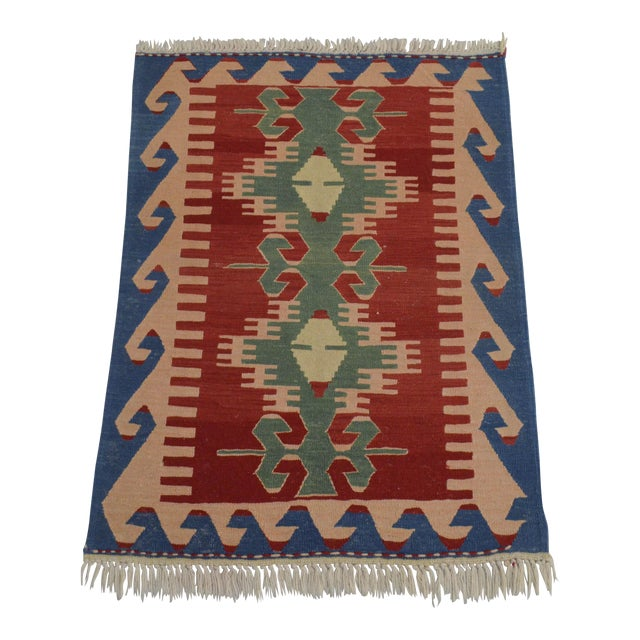 "New Turkish Hand Woven Oushak Rug - 2'11"" X 3'10"" - Image 1 of 6"