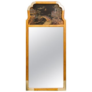 Asian Style Wall Mirror by La Barge For Sale
