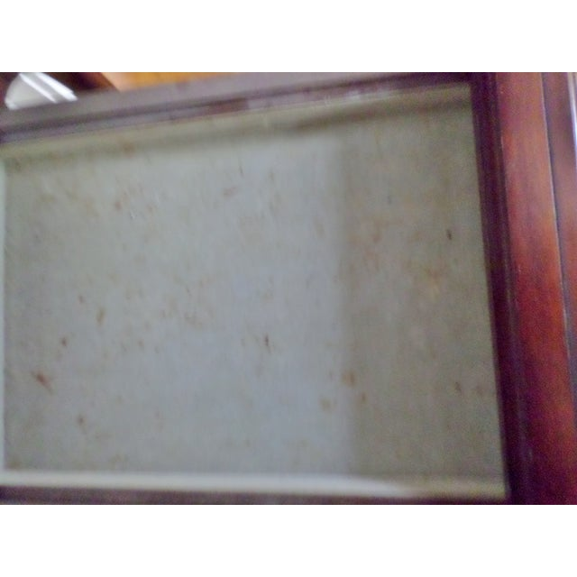 Vintage Bombay Company Cherry Stained Glass Curio Display Case For Sale - Image 11 of 13