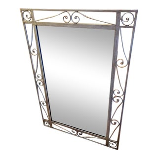 Iron Scroll Mirror (Sku 2232-24) For Sale