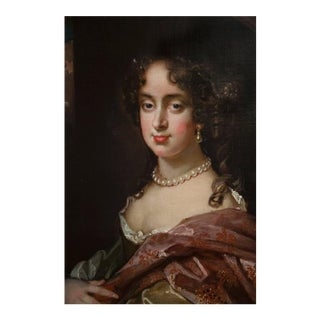 Charles II School of Huysmans Oil Painting on Canvas For Sale