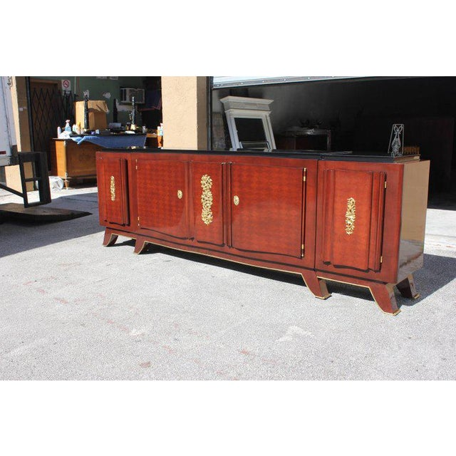 1930s French Art Deco Jules Leleu Rosewood Sideboard For Sale - Image 9 of 11