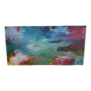Original Abstract Candle Drip Art on Canvas