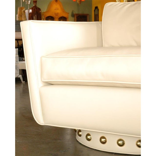 Customizable Paul Marra Swivel Lounge Chair For Sale - Image 9 of 10