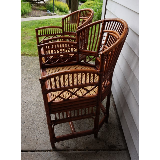 1980s Chinese Chippendale Bamboo Brighton Pavilion Chairs - a Pair For Sale - Image 5 of 13