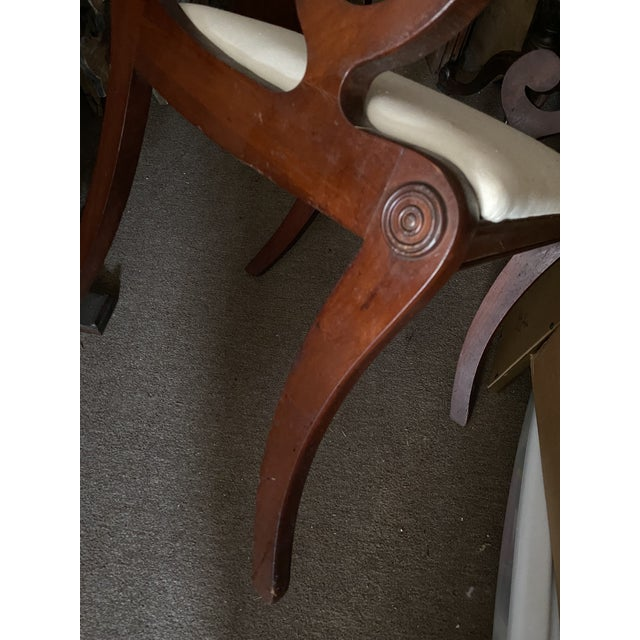 Regency Dining Chairs With Scrolled Arm - Set of 6 For Sale - Image 12 of 12