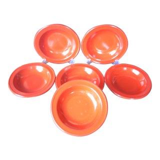 Emile Henry Red Soup Bowls - Set of 6