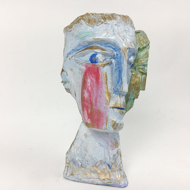 Abstract Ben Kupferman Resin 2 Faced Bust For Sale - Image 3 of 6