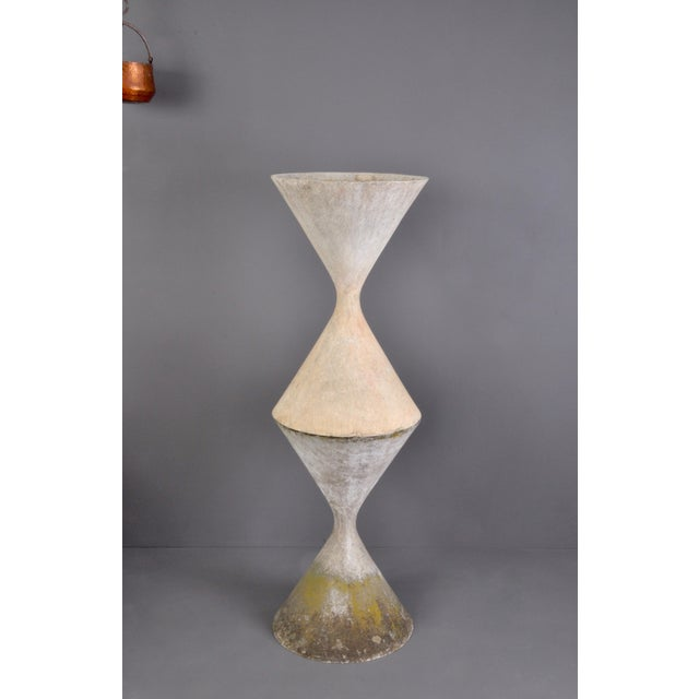 Concrete Small Hourglass Planter by Anton Bee For Sale - Image 7 of 11