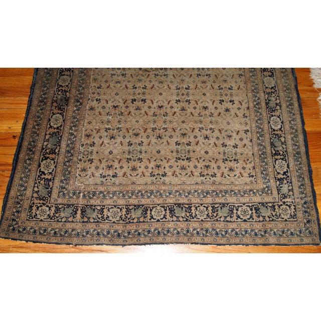 1880s Handmade Antique Persian Tabriz Hajalili Rug 4.2' X 6.5' For Sale - Image 10 of 13